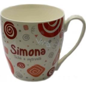 Nekupto Twister hrnek se jménem Simona červený 0,4 litru