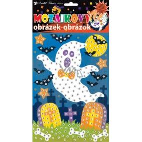 Mozaikový hrací set Halloween duch 23 x 16 cm
