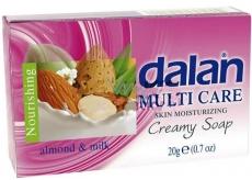 Dalan Multi care Almond & Milk toaletní hotelové mýdlo 20g