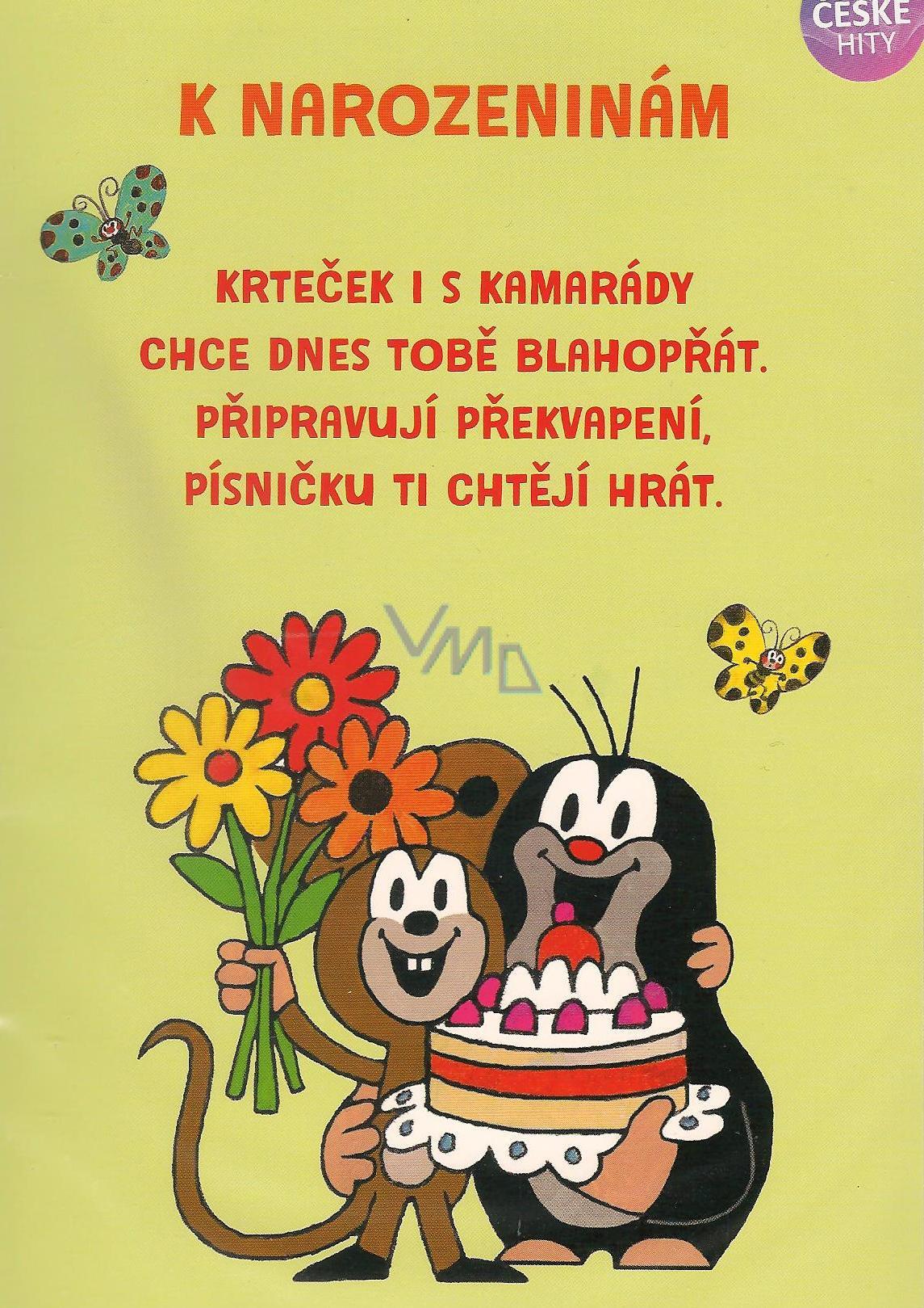 přání k 8 narozeninám Albi Hrací přání do obálky K narozeninám Krteček chystá překvapení  přání k 8 narozeninám