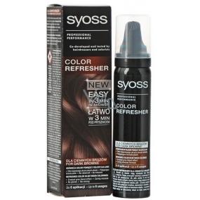 Syoss Color Refresher Pro tmavě hnědé odstíny vlasů 75 ml