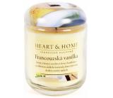 Heart & Home Francouzská vanilka Sojová svíčka velká hoří až 70 hodin 310 g