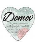 Albi Závěsná plaketka srdce Domov 9 cm × 10 cm