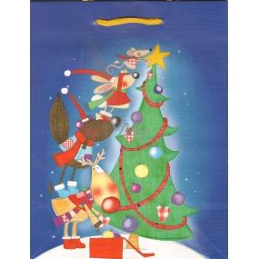Albi Dárková papírová taška střední 23 x 18 x 10 cm Vánoční TM4 96215