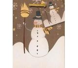 Nekupto Dárková papírová taška malá 14 x 11 x 6,5 cm Vánoční 1209 01 WBS