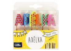 Albi Dortové svíčky jméno - Adélka, 2,5 cm
