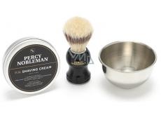 Percy Nobleman Krém na holení 100 g + štětka na holení + miska na holení, kosmetická sada na holení pro muže