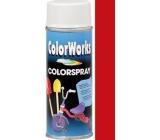 Color Works Colorsprej 918506 karmínově červený alkydový lak 400 ml