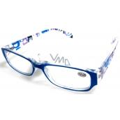 Berkeley Čtecí dioptrické brýle +1,5 plast světle modré stranice s obdelníky 1 kus MC2084