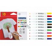 Centropen Textile Marker Značkovač (fixy) na textil 10 kusů