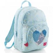 Miquelrius Batoh modrý se srdcem se 3 přihrádkami batoh 31,5 x 41,5 x 16,5 cm objem 23 litrů