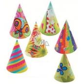 Kloboučky karnevalové různé motivy 6 kusů v balení