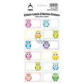 Arch Samolepky do domácnosti dekorační sovy barevné 3555 12 etiket