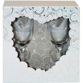 Albi Svatební set Šampusky de Luxe pro Nevěstu a Ženicha 2 x 160ml