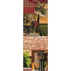 Nekupto Dárková papírová taška na láhev 33 x 10 x 9 cm víno 1 kus 131 30 KFLH