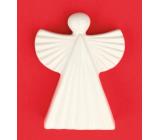 Keramický anděl figurka, vroubkovaný 9 cm