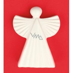 Anděl keramický figurka, vroubkovaný 9 cm