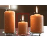 Lima Srdíčko potisk svíčka lososová válec 50 x 70 mm 1 ks