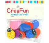 CreaFun Dřevěné korálky Beruška mix barev 20 x 25 mm 15 kusů