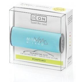 Millefiori Milano Icon Pompelmo - Grep Vůně do auta Classic světle modrá voní až 2 měsíce 47 g