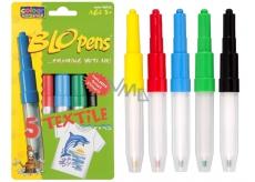 BLO pens Foukací fixy na textil 5 ks