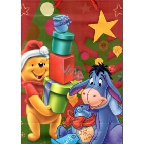 Ditipo Disney Dárková papírová taška pro děti L Medvídek Pú a Oslík s dárky 26,4 x 12 x 32,4 cm