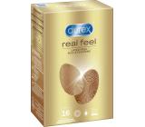 Durex Real Feel nelatexový kondom pro přirozený pocit kůže na kůži, nominální šířka: 56 mm 16 kusů