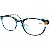 Berkeley Čtecí dioptrické brýle +2 plast mourovaté modro-zeleno-hnědé 1 kus MC2198