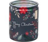Bolsius Magické Vánoce černá vonná svíčka ve skle 68 x 80 cm, doba hoření 23 hodin