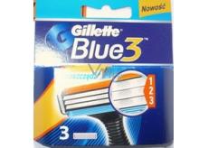 Gillette Blue 3 náhradní hlavice 3 břity 3 ks