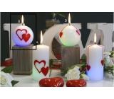 Lima Valentýnská magická svíčka koule 80 mm 1 kus