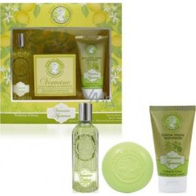 Jeanne en Provence Verveine Agrumes parfémovaná voda pro ženy 60 ml + tuhé toaletní mýdlo 100 g + krém na ruce 75 ml, dárková sada