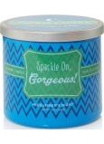 Yankee Candle Scentiments Sparkle On Gorgeous Tumbler Midsummer s Night - Jsi prostě úžasný vonná svíčka 283 g