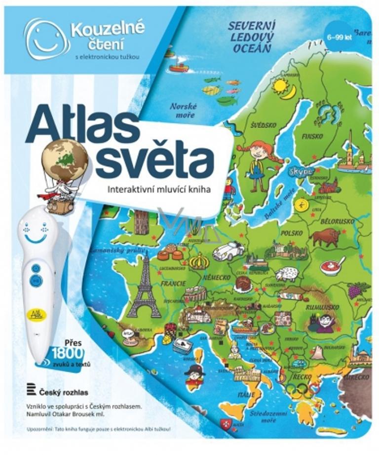 3e42d8dae Albi Kouzelné čtení interaktivní mluvící kniha Atlas světa - VMD ...
