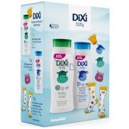 Dixi Baby 2v1 koupel 400 ml + tělové mléko 400 ml + ponožky pro děti, kosmetická sada