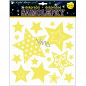 Room Decor Samolepky svítící ve tmě hvězdy 25 x 25 cm