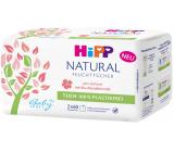 HiPP Babysanft Natural Sensitive čisticí vlhčené ubrousky pro děti bez mikroplastů 2 x 60 kusů