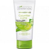 Bielenda Bouquet Nature Cucumber & Lime 3v1 čistící gel a sérum s okurkou a limetkou 150 g