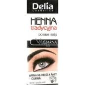 Delia Henna barva na obočí a řasy Černá 2 g