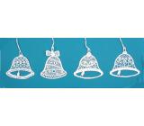 Háčkované vánoční ozdoby (4 zvonky) Velikost ozdoby je cca 7 cm