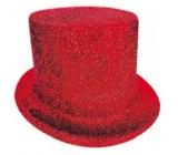 Cylindr karnevalový 25 cm červený