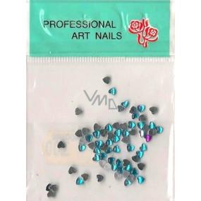 Professional Art Nails ozdoby na nehty kamínky srdíčka tyrkysové 1 balení