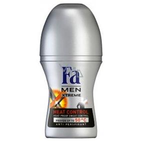 Fa Men Xtreme Heat Control kuličkový antiperspirant deodorant roll-on pro muže 50 ml