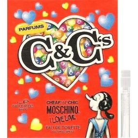 Moschino I Love Love toaletní voda pro ženy 1 ml s rozprašovačem, Vialka