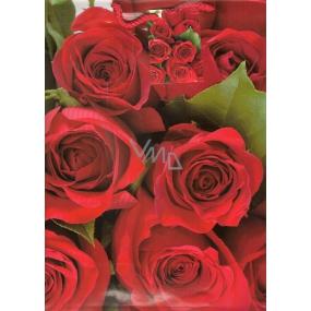 Nekupto Dárková papírová taška velká 32,5 x 26 x 13 cm Růže 1 kus 838 30 BL