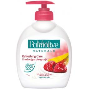 Palmolive Naturals Refreshing Care Raspberry & Mango tekuté mýdlo s dávkovačem 300 ml