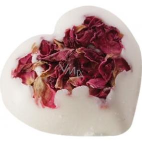 Bomb Cosmetics Srdíčko s plátky růže Rosie Heart 20 g