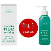 Ziaja Manuka Tree Purifying normalizační denní krém 50 ml + Manuka Tree Purifying normalizační mycí gel 200 ml, duopack