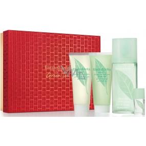 Elizabeth Arden Green Tea parfémovaná voda pro ženy 100 ml + tělové mléko 100 ml + sprchový gel 100 ml + parfémovaná voda pro ženy 3,7 ml, dárková sada