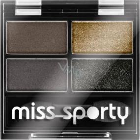 Miss Sporty Studio Colour Quattro Eye Shadow oční stíny 414 100% Smokey 3,2 g